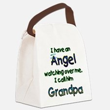 I HAVE AN ANGEL GRANDPA.png Canvas Lunch Bag