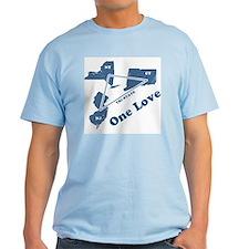 NY, NJ & CT - One Love Ash Grey T-Shirt