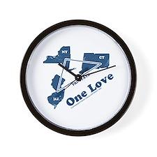 NY, NJ & CT - One Love Wall Clock