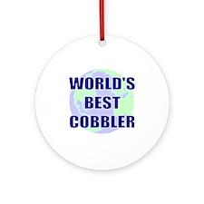 World's Best Cobbler Ornament (Round)
