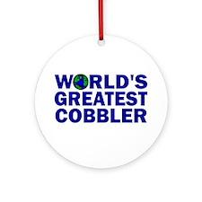 World's Greatest Cobbler Ornament (Round)