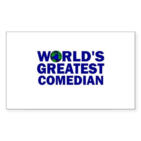 World's Greatest Comedian Rectangle Sticker