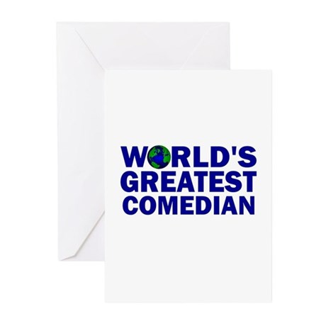 World's Greatest Comedian Greeting Cards (Pk of 10