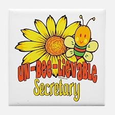 Unbelievable Secretary Tile Coaster