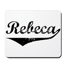 Rebeca Vintage (Black) Mousepad