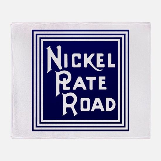 Nickel Plate Railroad logo Throw Blanket