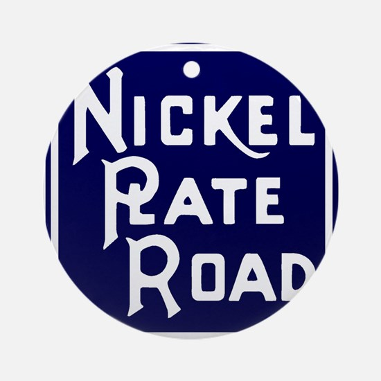 Nickel Plate Railroad logo Round Ornament