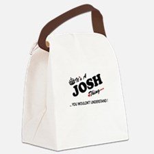 Funny Josh Canvas Lunch Bag