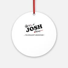 Funny Josh Round Ornament