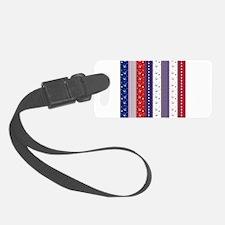 Patriotic Strs & Stripes Abstrac Luggage Tag