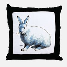 Artic Hare Throw Pillow