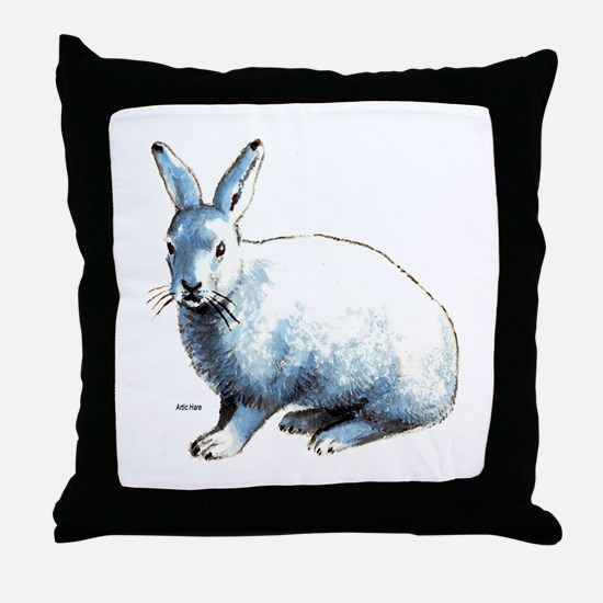 Artic Hare Throw Pillow