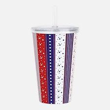 Patriotic Strs & Strip Acrylic Double-wall Tumbler