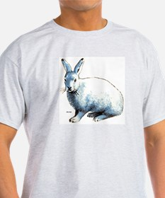 Artic Hare (Front) Ash Grey T-Shirt