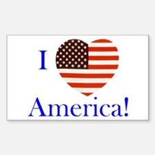 I Love America! Rectangle Decal