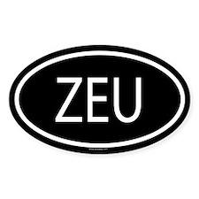ZEU Oval Decal
