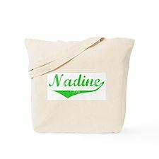 Nadine Vintage (Green) Tote Bag