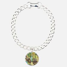 African Woman Charm Bracelet, One Charm