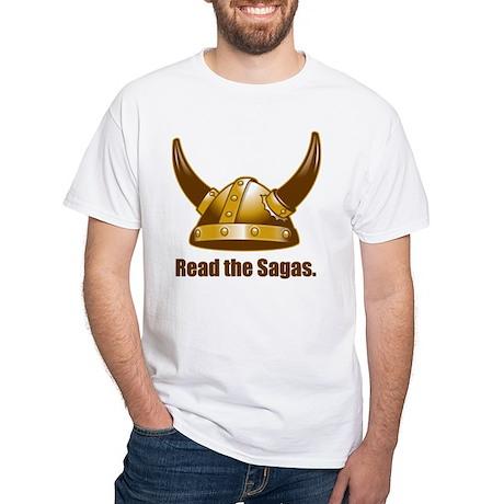 Read the Sagas White T-Shirt