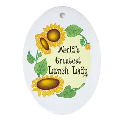 World's Greatest Lunch Lady Oval Ornament