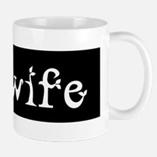 Midwife Black and White Mugs