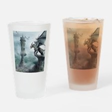 Tower Dragons Drinking Glass