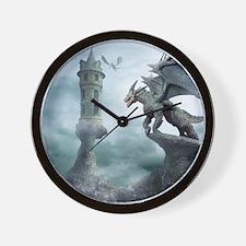Tower Dragons Wall Clock
