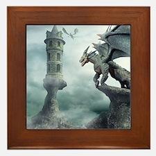 Tower Dragons Framed Tile