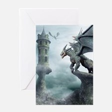 Tower Dragons Greeting Card