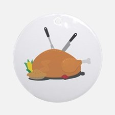 Thanksgiving table decoration Round Ornament