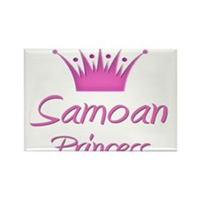 Samoan Princess Rectangle Magnet
