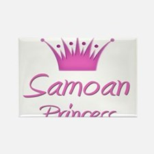 Samoan Princess Rectangle Magnet