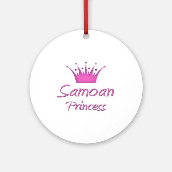 Samoan Princess Ornament (Round)