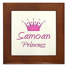 Samoan Princess Framed Tile