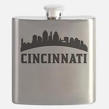 Cincinnati OH Skyline Flask