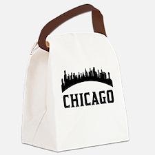 Chicago IL Skyline Canvas Lunch Bag
