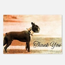 Thank You Boston Terrier Postcards (Package of 8)