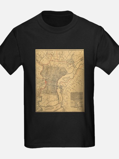Vintage Map of Philadelphia Pennsylvania ( T-Shirt
