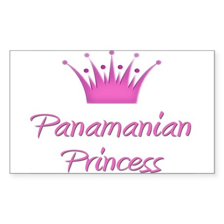 Panamanian Princess Rectangle Sticker
