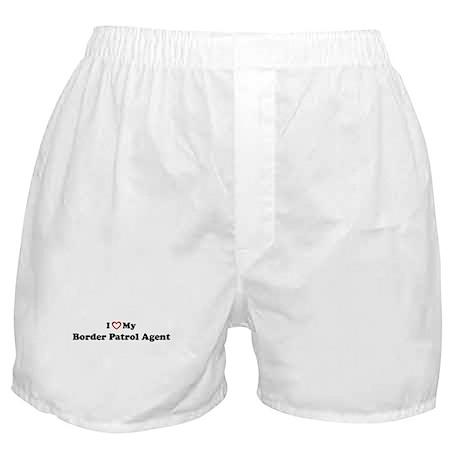 I Love My Border Patrol Agent Boxer Shorts