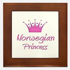 Norwegian Princess Framed Tile