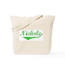 Nichole Vintage (Green) Tote Bag