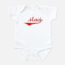 Maci Vintage (Red) Infant Bodysuit