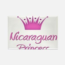 Nicaraguan Princess Rectangle Magnet