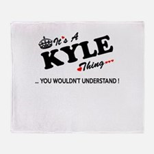 Cute Kyle Throw Blanket