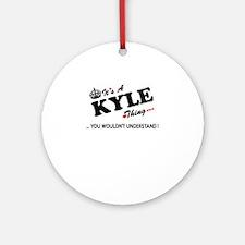 Cute Kyle Round Ornament