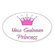 New Guinean Princess Oval Decal