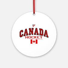 CA(CAN) Canada Hockey Ornament (Round)