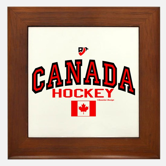 CA(CAN) Canada Hockey Framed Tile