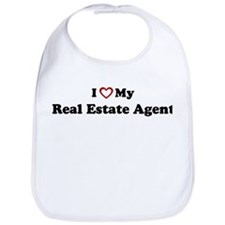 I Love My Real Estate Agent Bib